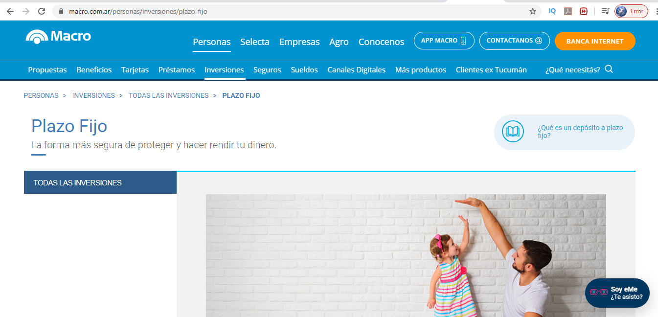 ¿Cuál La Tasa De Plazo Fijo UVA En Banco Macro En Argentina?